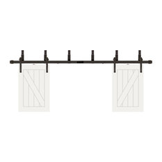 """Creative Entryways - 24""""X36"""" Cottage White Prefinished Tv Door, Fits 50"""" TV, Oil Rubbed Bronze, 50"""" - Entertainment Centers and Tv Stands"""