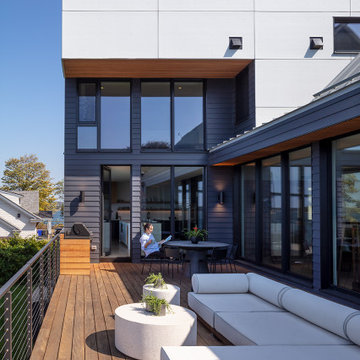 Garapa Deck with Outdoor Grill, Dining and Lounge Areas