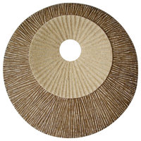 Round and Ribbed Double Layer Sandstone Wall Art, Large, Brown and Beige