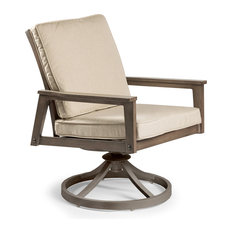 Horizon Cushion Swivel Dining Chair, Stanton Graystone
