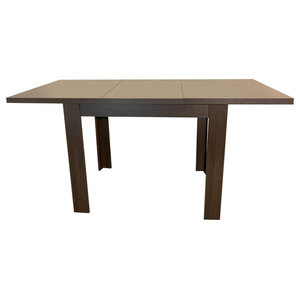 Traditional Dining Table, Solid Wood, Oak Wenge
