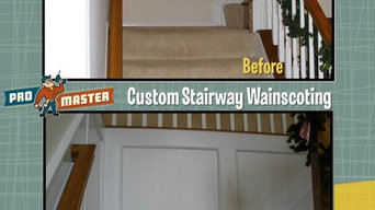 Custom Wainscoting in Stairwell
