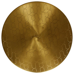 Ray Round Serving Tray, Matte Brass, Small