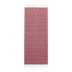 Maja Red Vinyl Floor Cloth, 150x180 cm