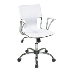 office star ave six dorado office chair in vinyl and chrome finish white buying an office chair