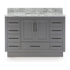 """Kendall Gray Vanity With Plinth Base, 48"""""""
