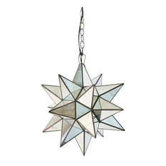 Antique-Style Mirror Star Chandelier, Extra Large