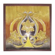 "Springdale 9.5""H Pasque Flower Hand Painted Porcelain Wall Art"