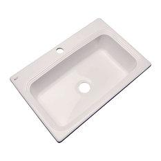 SolidCast - Clemente 1-Hole Kitchen Sink, Natural - Kitchen Sinks