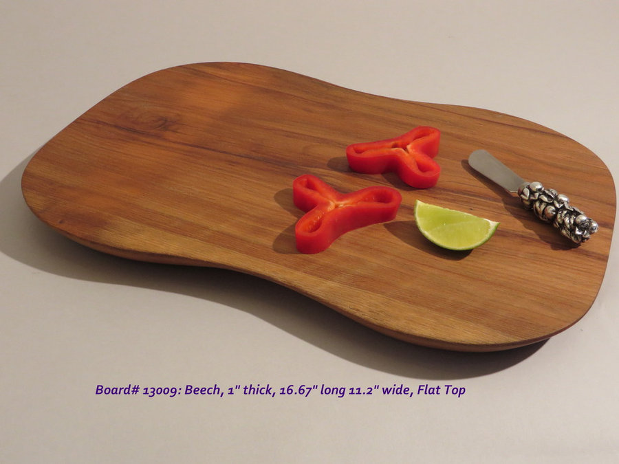 Hand-Carved Beech Serving & Cutting Board