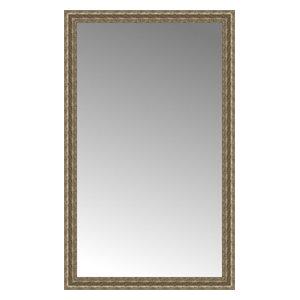 """35""""x57"""" Custom Framed Mirror, Distressed Silver"""