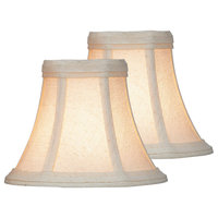"""Lite Source CH507-6/2PK 6"""" Beige Candelabra Shade - Pack of Two"""