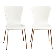 Pavia Bentwood Chair, White, Set Of 2