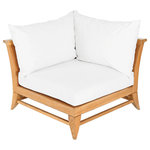 """Oasiq - OASIQ Limited 100 Corner Chair, Left or Right With Canvas Natural Cushions - The Limited collections fused the best of contemporary designs with the finest teak. There are several styles that will accommodate your needs. Limited collections can be used in any environment, at your beach house or simply in your al fresco kitchen. The best is, this collection is in stock and ready to ship.  Seat height: 9.75"""""""