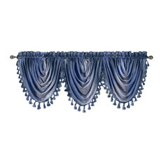 Ombre Waterfall Valance, Blue