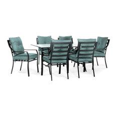Lavallette 7-Piece Outdoor Dining Set in Ocean Blue