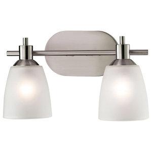 Jackson 2 Light Bathroom Vanity Light in Brushed Nickel