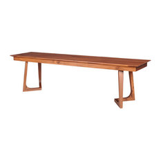 Moe's Home Godenza Bench, Brown