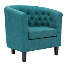 Prospect Upholstered Fabric Armchair, Teal