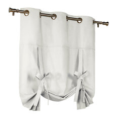 Commonwealth Home Fashions - Thermalogic Insulated Grommet Tie-Up Panel, White - Curtains