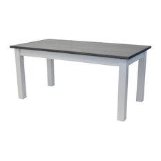 "Drifwood Gray Harvest Table, 72"""