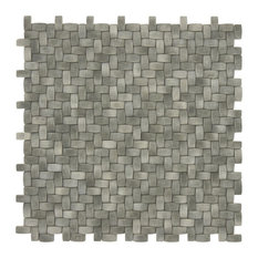 "12""x12"" Summer Outing Recycled Basket Weave, Optimum Gray"