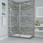 """Aston - Bromley 66.25""""-67.25""""x36.375""""x72"""" Frameless Corner Hinged Shower Enclosure - The Bromley Frameless Shower Enclosure combines quality construction with elegant craftsmanship to offer the best in contemporary styling and functionality.  Available in a vast array of ready to install dimensions, theBromley frameless shower enclosure is comprised of durable stainless steel hardware and premium clear 3/8 in. ANSI-certified tempered glass with StarCast by EnduroShield coating, that allows your shower to stay beautiful for years to come.  The Bromley's inline wall channel provides up to 1 in. of adjustability to ensure a seamless installation, while its hinged door is designed for a left or right-hand opening.  Let the Bromley frameless enclosure become your next custom-style, personalized corner showering solution.  Shower base not available. Images are for representation only. Once installed, glass may differ slightly than shown in image due to the nature of light absorption and reflection from your own bathroom's color, design or decor palette. This is normal and should be expected in certain scenarios due to the glass's natural composition."""