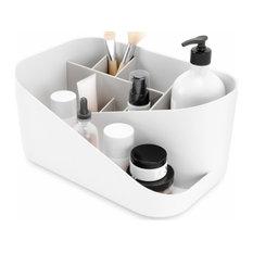 Umbra Glam Cosmetic Organizer, White/Gray