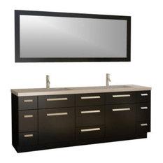 Design Element   Moscony 84? Double Sink Vanity Set In Espresso   Bathroom  Vanities And