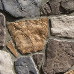"""Mountain View Stone - Field Stone, Ozark, 30 Sq. Ft. Flats - Field stone is a classic natural stone profile. The authentic rugged character captured in this pattern is truly remarkable. The timeless shapes and textures of field stone are reminiscent of stones found on farms across the country. Field stone is also known as random rock and is commonly combined with other patterns such as ledge stone to create an old-style rustic look. Field stone is a stone veneer product measuring 1"""" to 2"""" thick and therefore thinner than traditional stone siding for easier, lighter handling. All our manufactured stone veneer products are suitable for interior applications such as stone accent walls or stone fireplaces as well as exterior applications such as stone veneer siding. Field stone is available in boxes of 10 square foot flats, boxes of 6 lineal foot matching corners, 150 square foot bulk crates, and samples are also available!"""