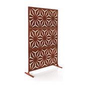Alta Corten Steel Decorative Screen With Stand, Star