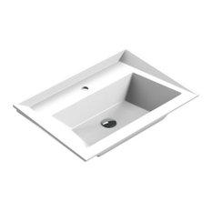 Valencia SCALENE Washbasin 28 inches Single Drop-In Rectangular RX3 Bath Sink