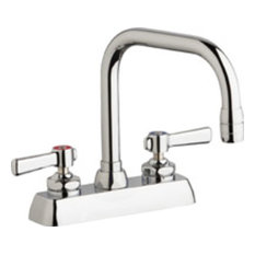 Chicago Faucets W4D-DB6AE35-369AB Commercial Grade Centerset - Chrome