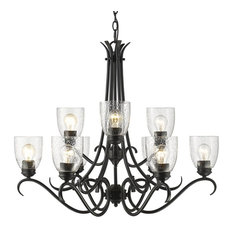 Parrish 9-Light Chandelier, Black