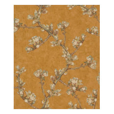 Vintage Almond Blossom Wallpaper, Marigold, Double Roll