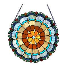 "Minerva Tiffany-Glass Circus Tent 18"""