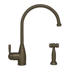 Queenhaus Single Lever Faucet With A Gooseneck Spout, Solid Single Lever Handle