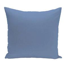 "Solid Outdoor Pillow, Cornflower, 18""x18"""