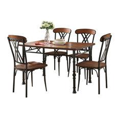 pilaster designs cruz 5 piece dining set black ash dining sets - Traditional Dining Room Sets
