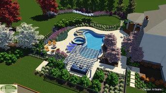 Cote Residence.  Pool Paradise Design Concept, Allentown,NJ