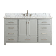 "Avanity Modero 61"" Single Vanity, Chilled Gray Finish"