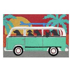 "Beach Trip Turquoise Rugs 1475/04 - 30""X48"""