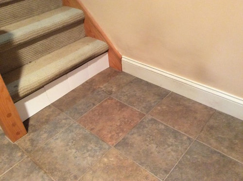 Baseboard Transition From Floor Stairs