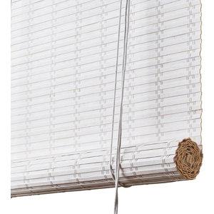 Flat Bamboo Roller Blind, White, 160x140 cm