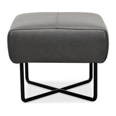 Hooker Furniture Efron Ottoman w/ Black Metal Base