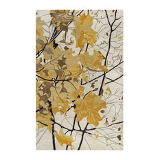 Rizzy Home Highland HD8084 Gold Nature Area Rug, Rectangular 2'x3'