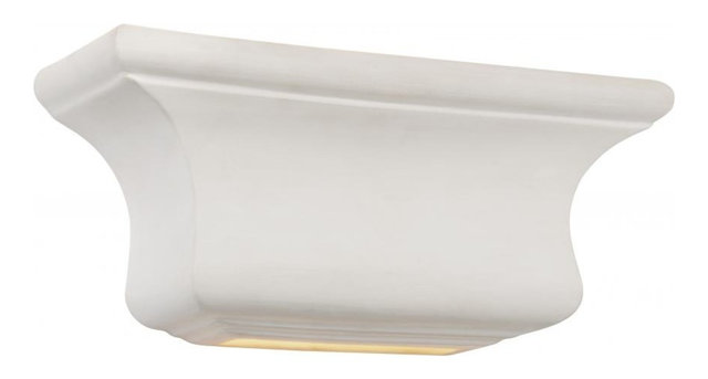 One Light White Ceramic Paintable Wall