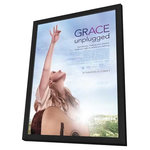 "Pop Culture Graphics - ""Grace Unplugged"" 2013 Framed Movie Poster, 27""x40"" - There's no better way to display your ""Grace Unplugged"" Movie Poster than with this hand-crafted deluxe black wood frame. Includes Acrylic Plexiglas - lightweight, offers great optical clarity, and won't easily break! Packaged with care - ships in sturdy reinforced packing material. Made in the USA."
