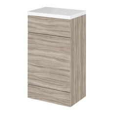 Penelope Combinations Contemporary WC Unit, Driftwood, Full Depth