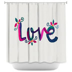 DiaNoche Designs Shower Curtain By Pom Graphic Design